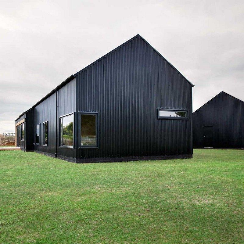 Innovative Black Barn By Red