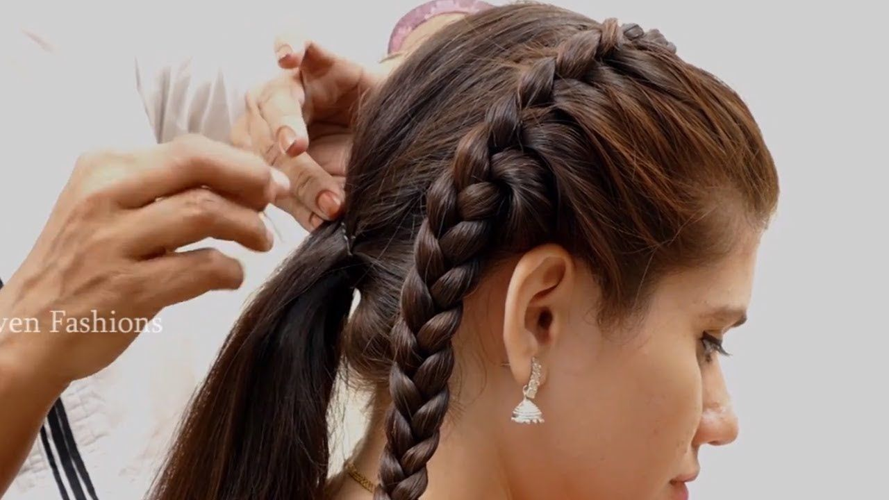 2 Different Hair Styles For Girlsnew Year Party Hairstyles For