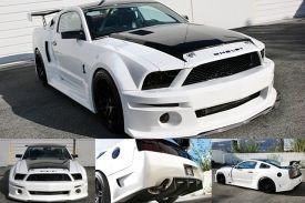 2007 2009 Ford Mustang Gt500 Widebody Aerodynamic Body Kit X2