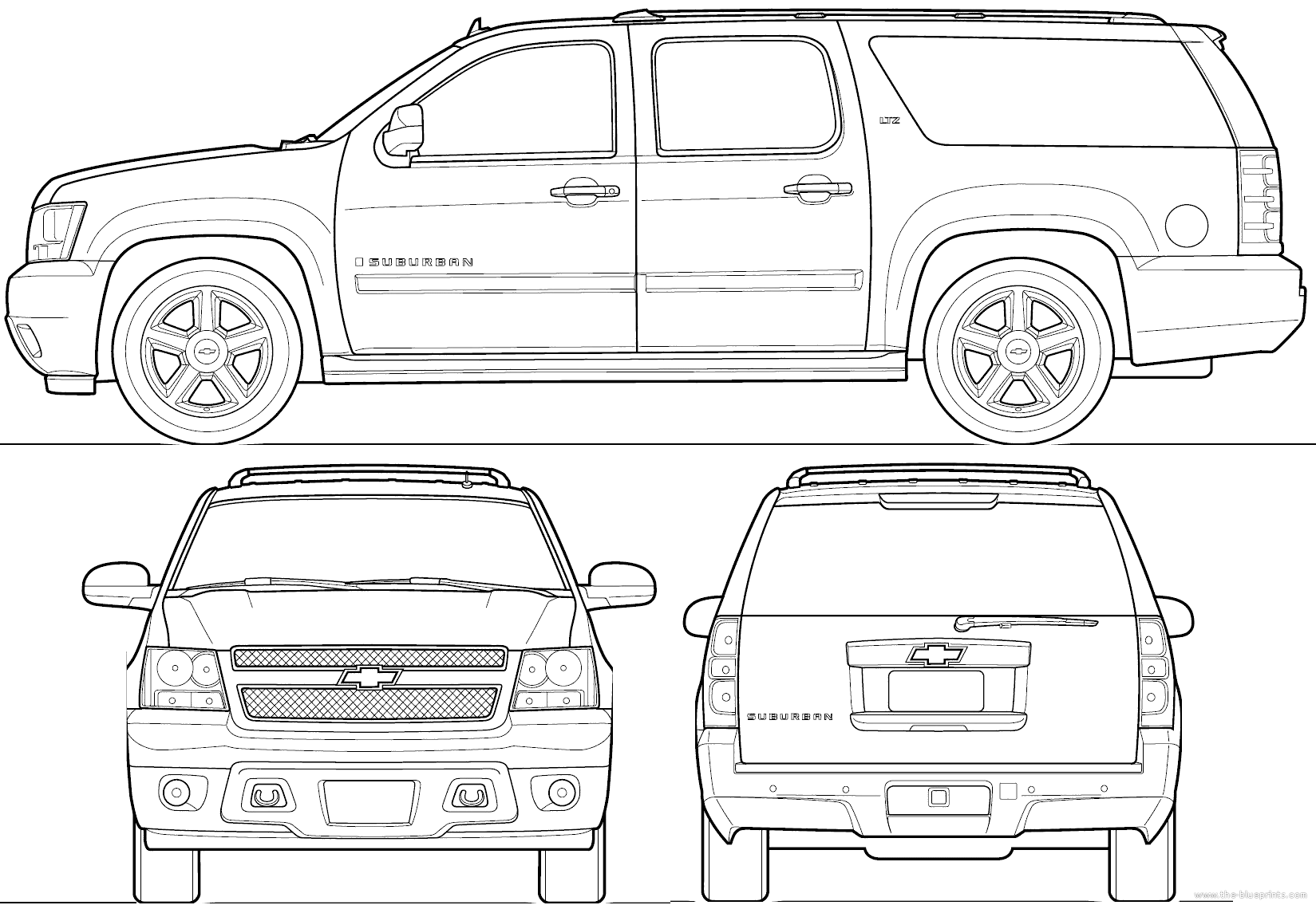 Chevy Coloring Pages Suburban Check More At