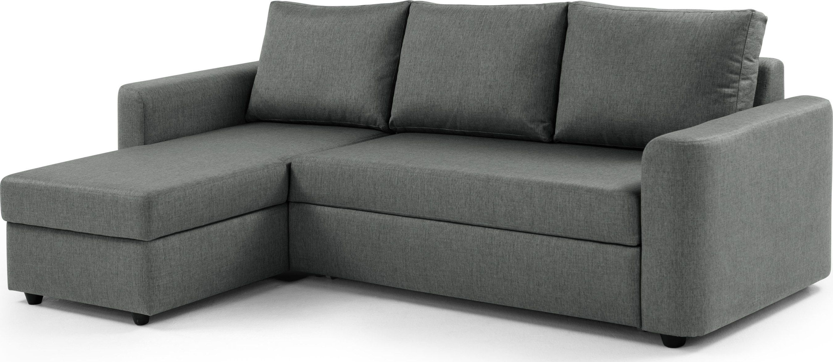 Albie Left Corner Storage Sofa Bed, Steeple Grey from Made