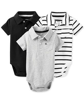 68c1d42aafc Carter s Baby Boys  3-Pack Polo Bodysuits - Kids Newborn Shop - Macy s. Carter s  Baby Boy Outfits ...