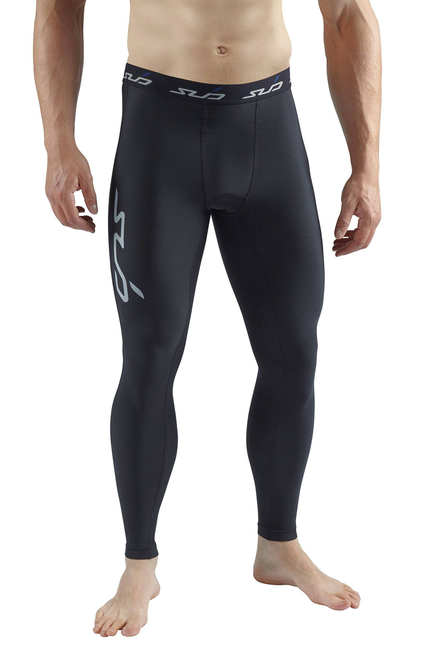 Black Sub Sports Cold Thermal Compression Baselayer Mens Top