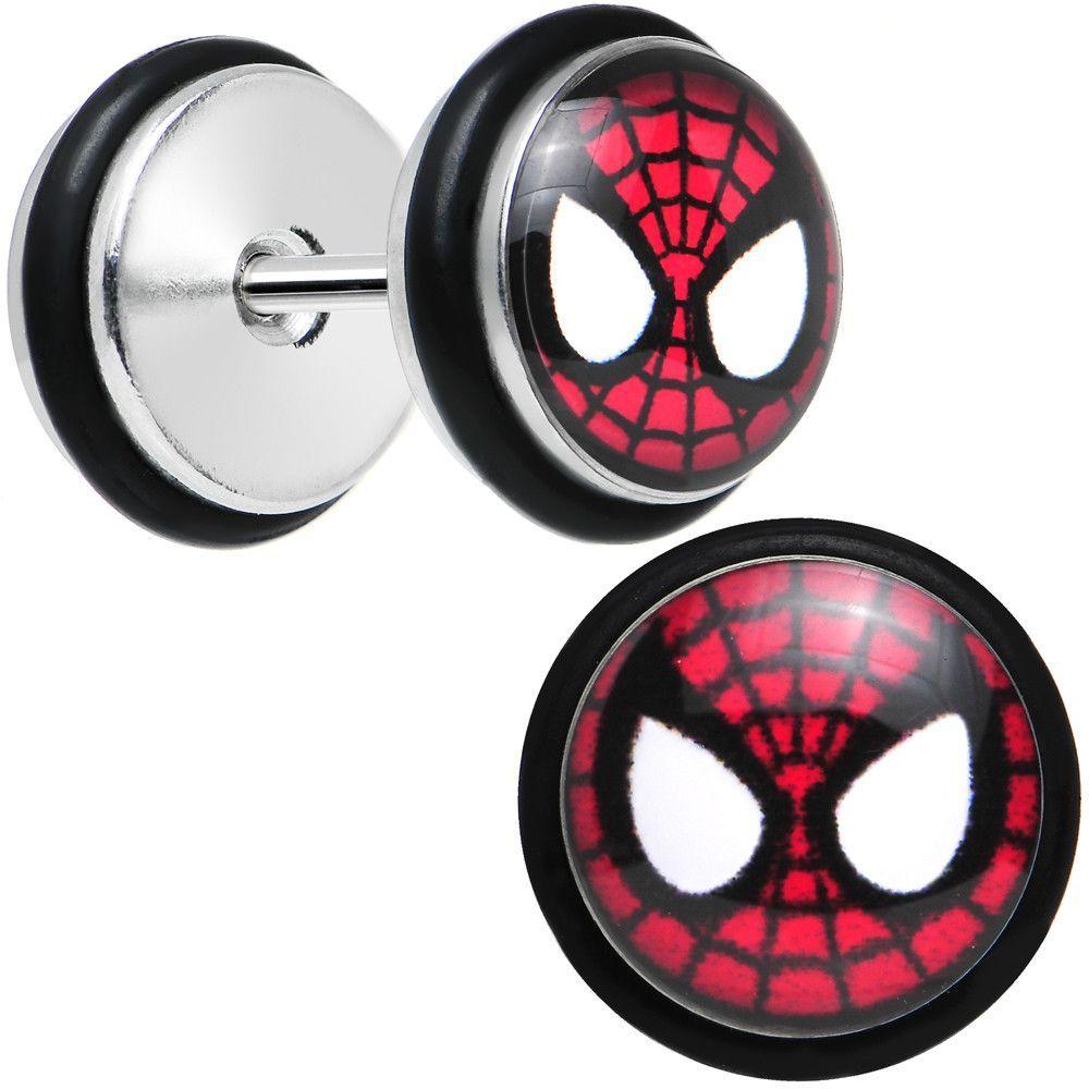 1//2 Licensed SpiderMan Steel Screw Fit Tunnel Plug Set