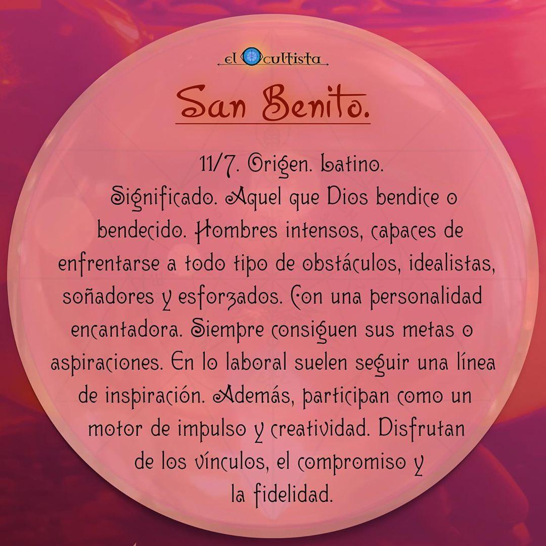 Felicidades En Tu Santo Benito 11 Julio Origen