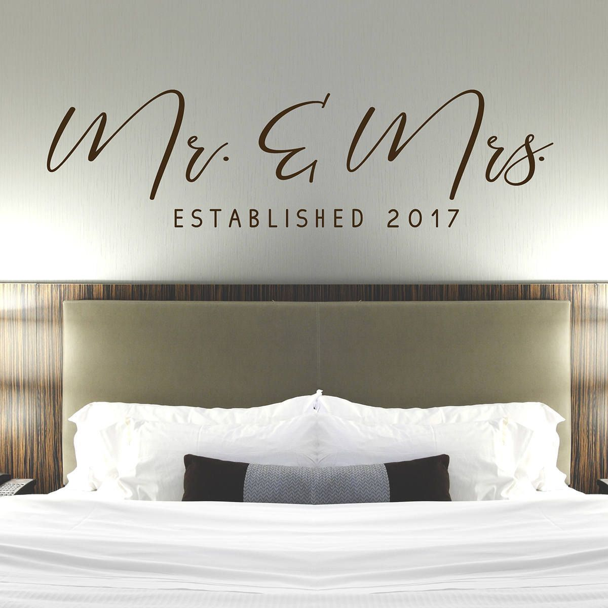 Mr Mrs Wall Decal Master Bedroom Wall Decor Established Date