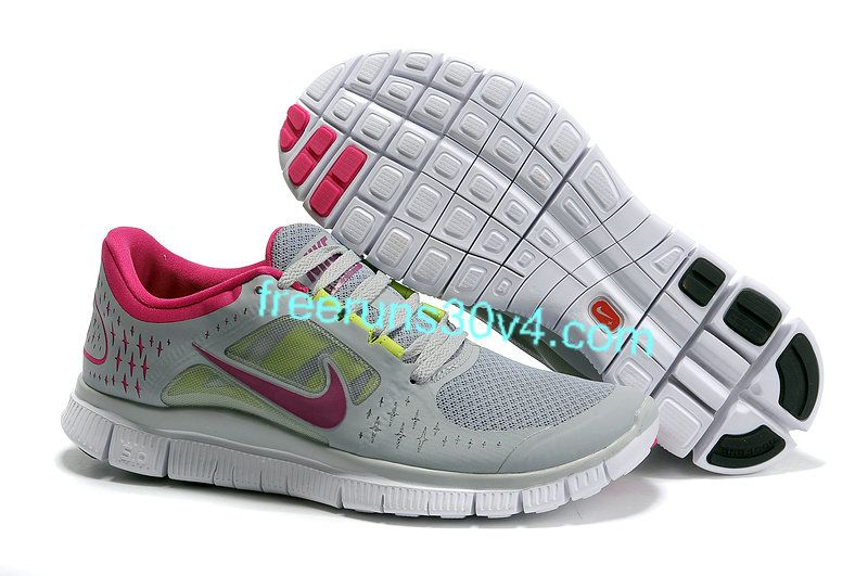 big sale ab64d 6b4b5 Womens Nike Free Run 3 White Cool Grey Fuchsia Shoes [Nike ...