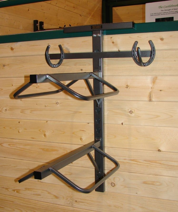 Monturero met lico de pared para dos monturas hierro - Caballetes de hierro ...