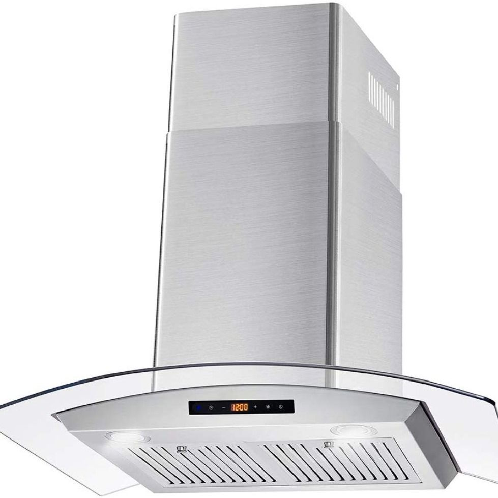 Cosmo Cos 668wrcs75 Pro Style Wall Mount Range Hood 30 Inch 760 Cfm Tempered Glass Ducted Exhaust