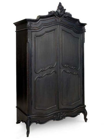 Allissias Attic Design U0026 Vintage French Style U2014 French Louis XV Armoire In  Black With Intricate