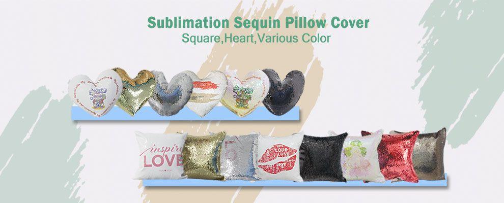 sublimation flip magic sequin pillow