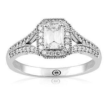 Christopher Designs 18K Crisscut Diamond Ring from Borsheims  A premier designer at Yonan's Jewelers