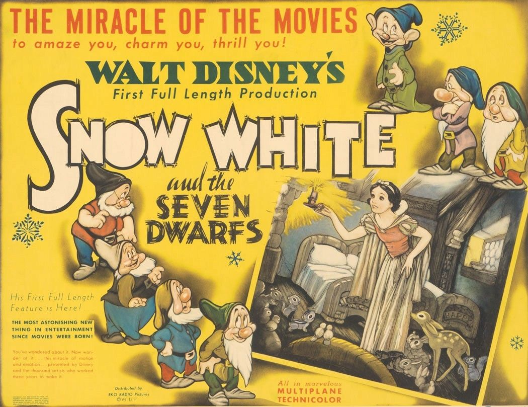 Snow White and the Seven Dwarfs (1938) | movies, movies ...