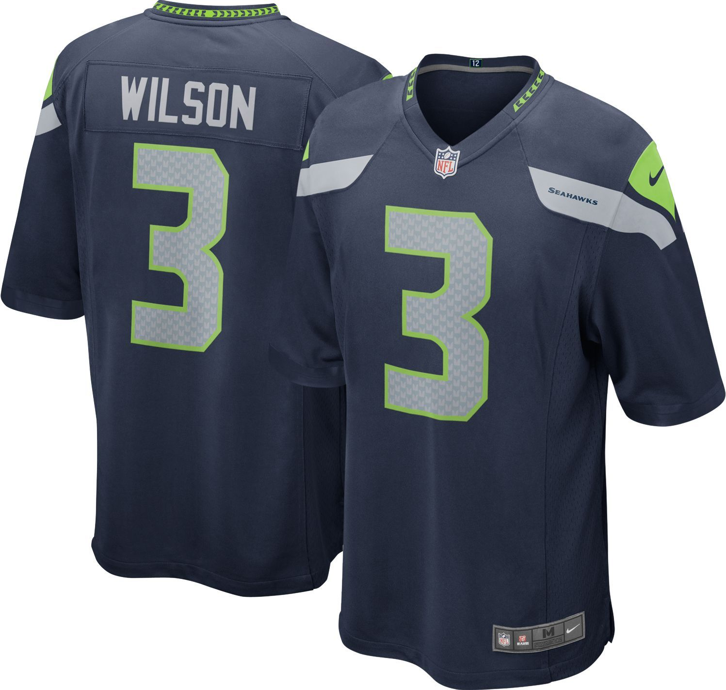 227d3ef2 Nike Boys' Seattle Seahawks Russell Wilson #3 Home Game Jersey ...