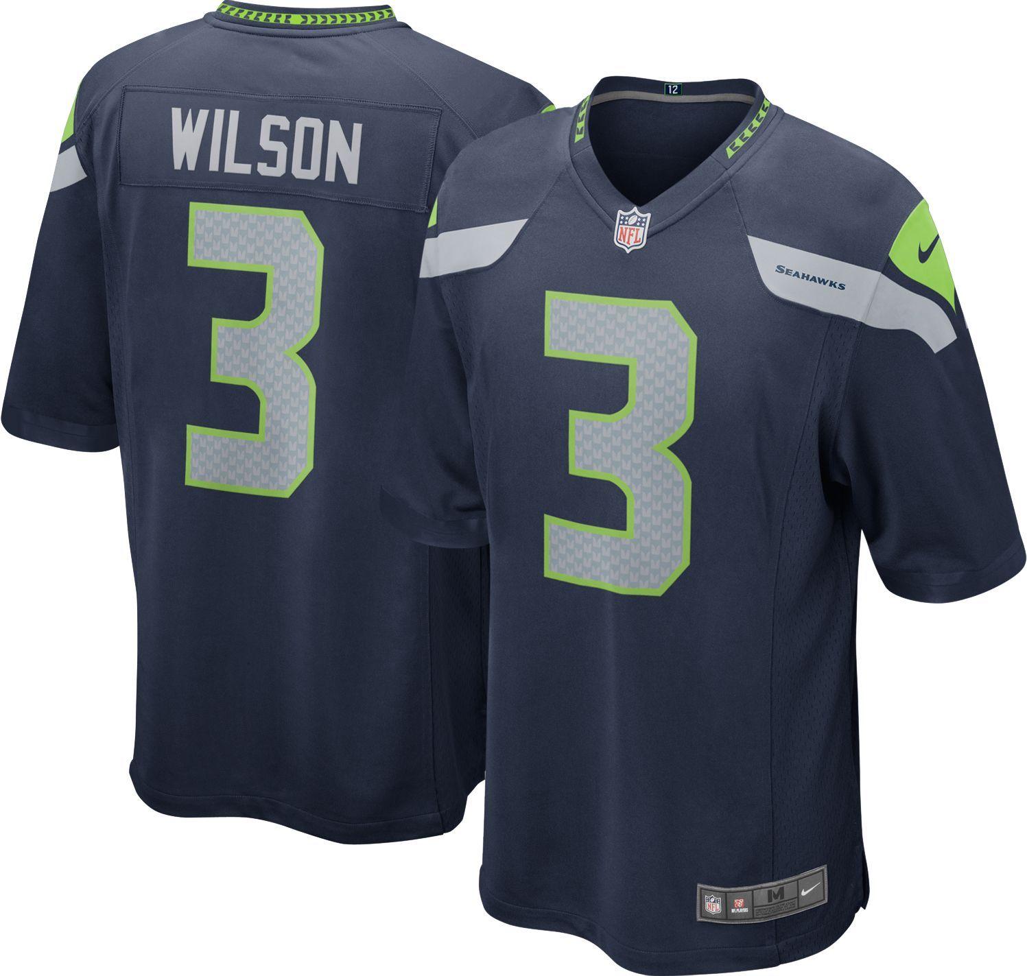 New Seattle Seahawks Football Jersey #3 Russell Wilson