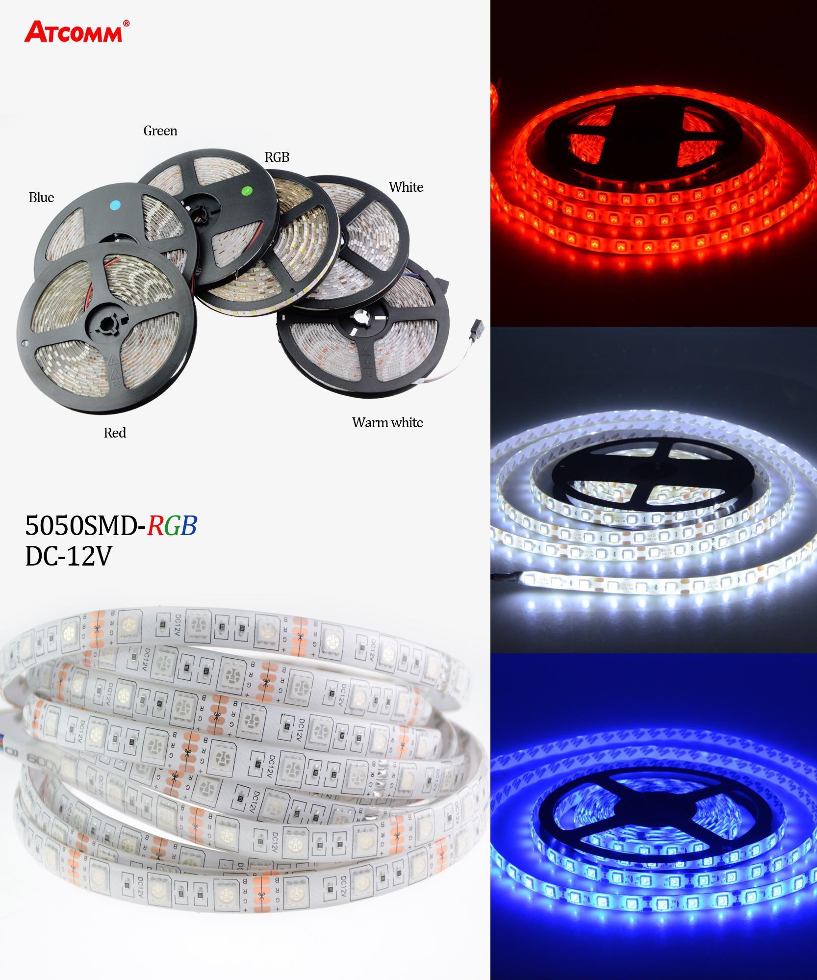 Visit to Buy 5050 RGB LED Strip Light 5 Meters 300 LEDs DC 12V LED
