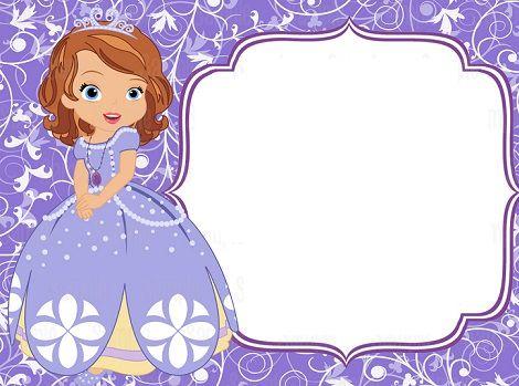 Invitaciones De Cumpleaños De La Princesa Sofía Princesa