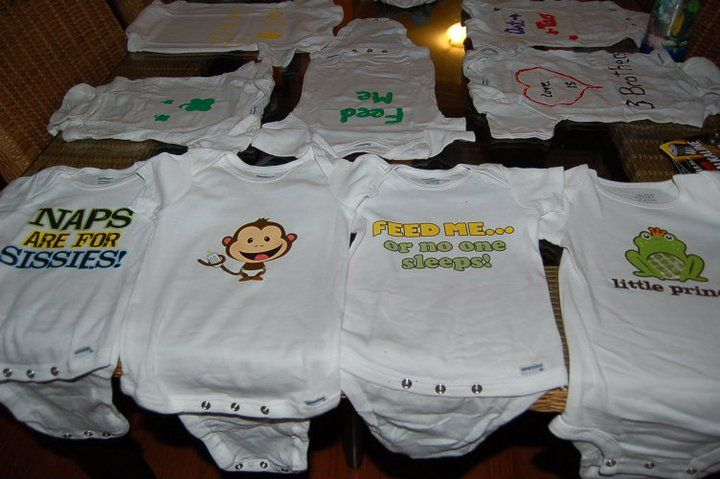 Unique Baby Shower Idea Onesie Decorating Party Baby Shower