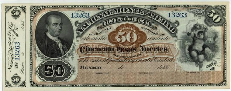 Mexico Nacional Monte De Piedad 50 Pesos Remainder 2 188x Mexico Tamaulipas Coahuila