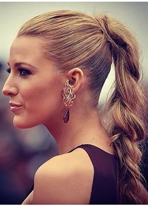 Braid Is A Trending Hairstyle At Cannes Blake Lively In High Ponytail The Red Carpet During Film Festival 2014