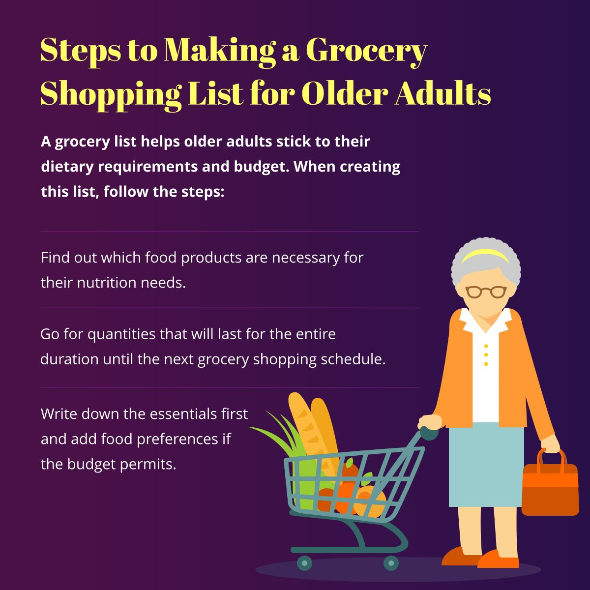Steps To Making A Grocery Shopping List For Older Adults
