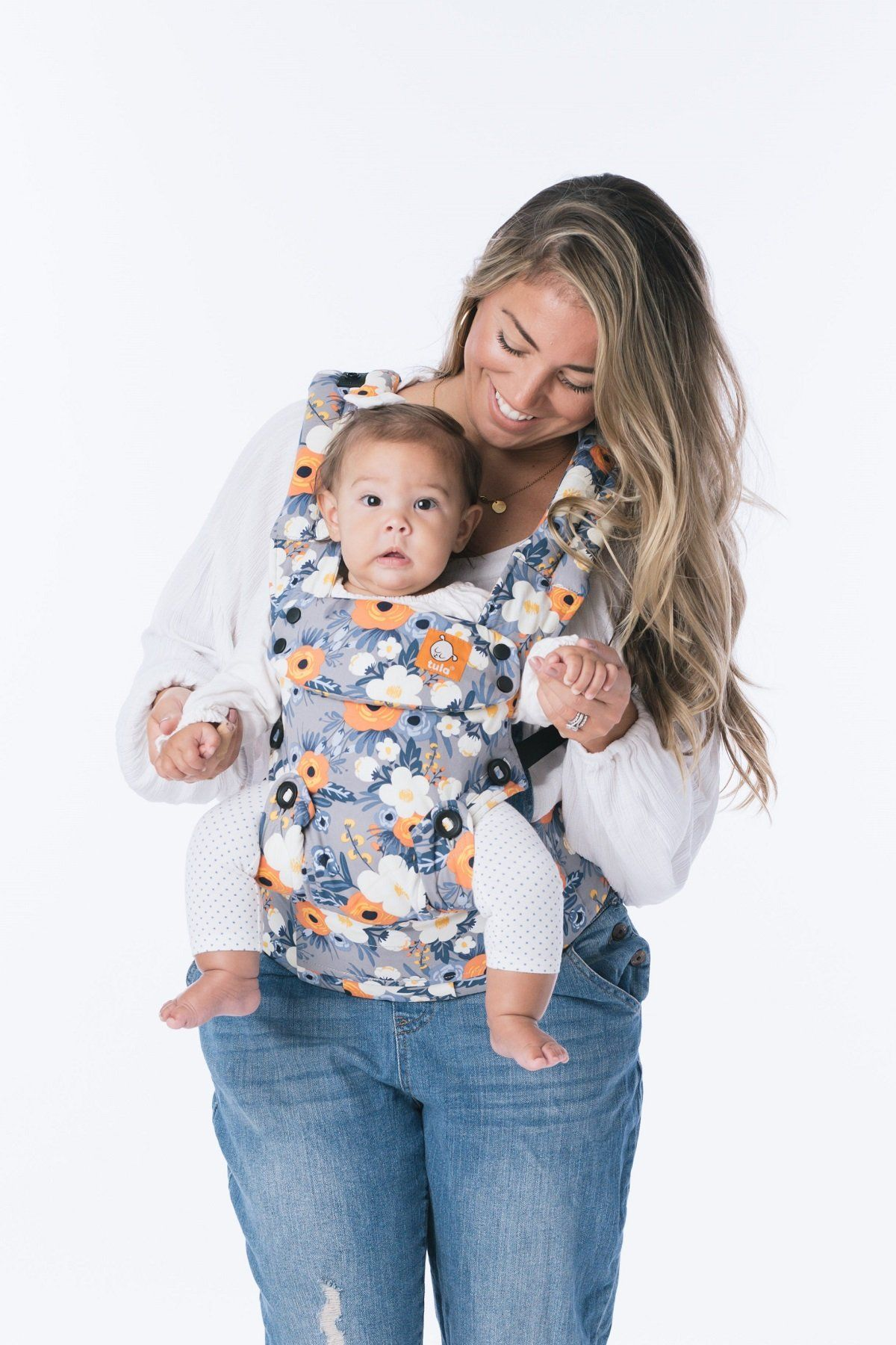 767269cb1ef French Marigold - Tula Explore Baby Carrier - Baby Tula. A bit of Parisian  flair blossoms from an updated version of a favorite print.