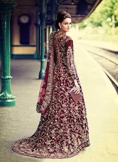 Asian Bridal Dress lengha pakistani/india Velvet, Custom Made, Gown
