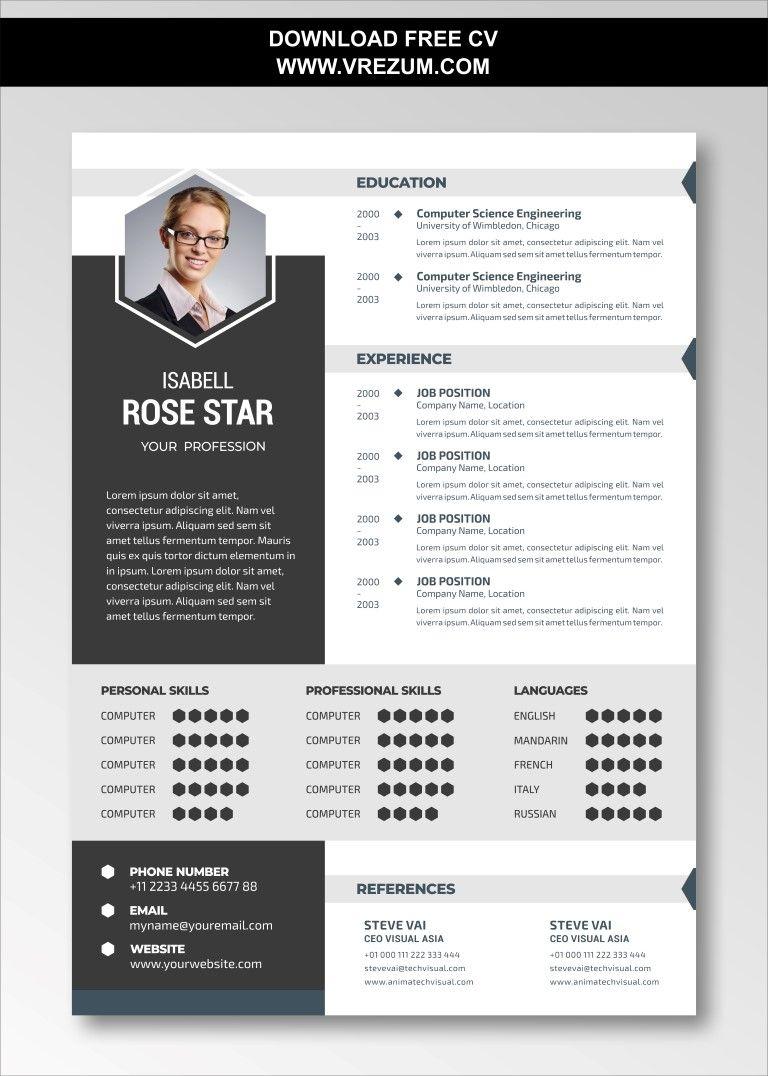(EDITABLE) - FREE CV Templates For Directors in 2020 | Cv template free, Cv template, Resume ...