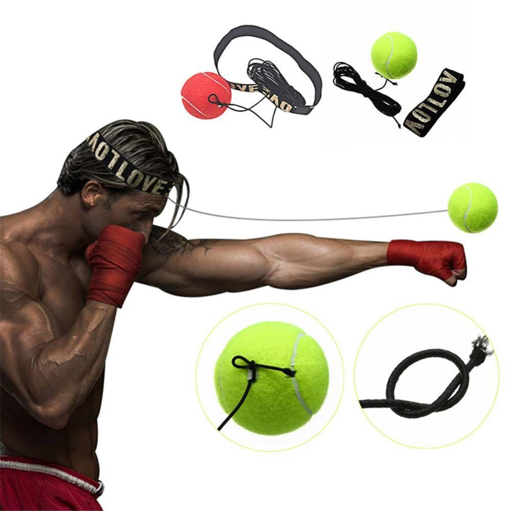 Gym Boxing Fight Ball with Head Band for Reflex Speed Boxer Training Tool