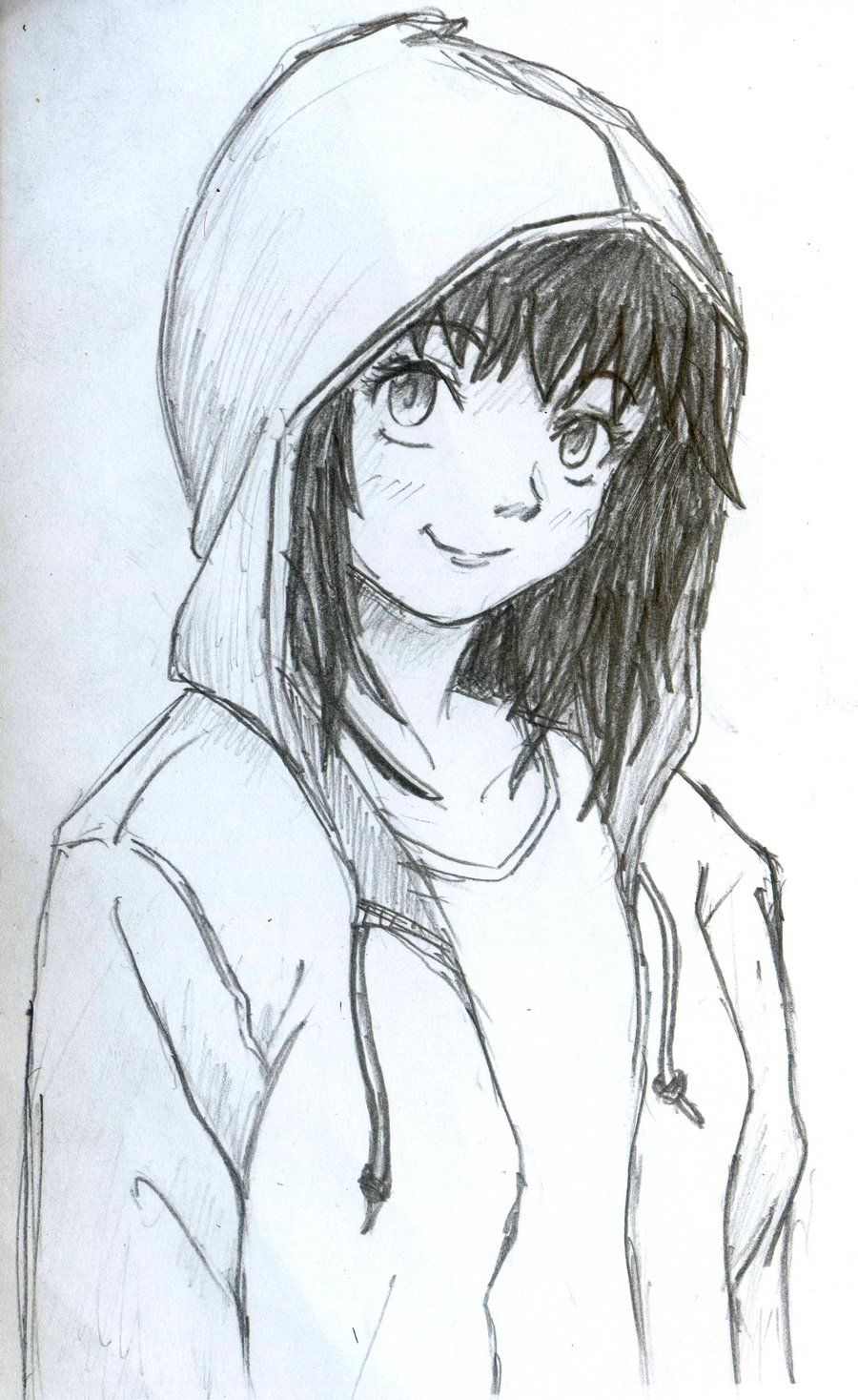 Hoodie girl by diyanahnadzree on deviantart how to draw hoodies manga drawing drawing tips