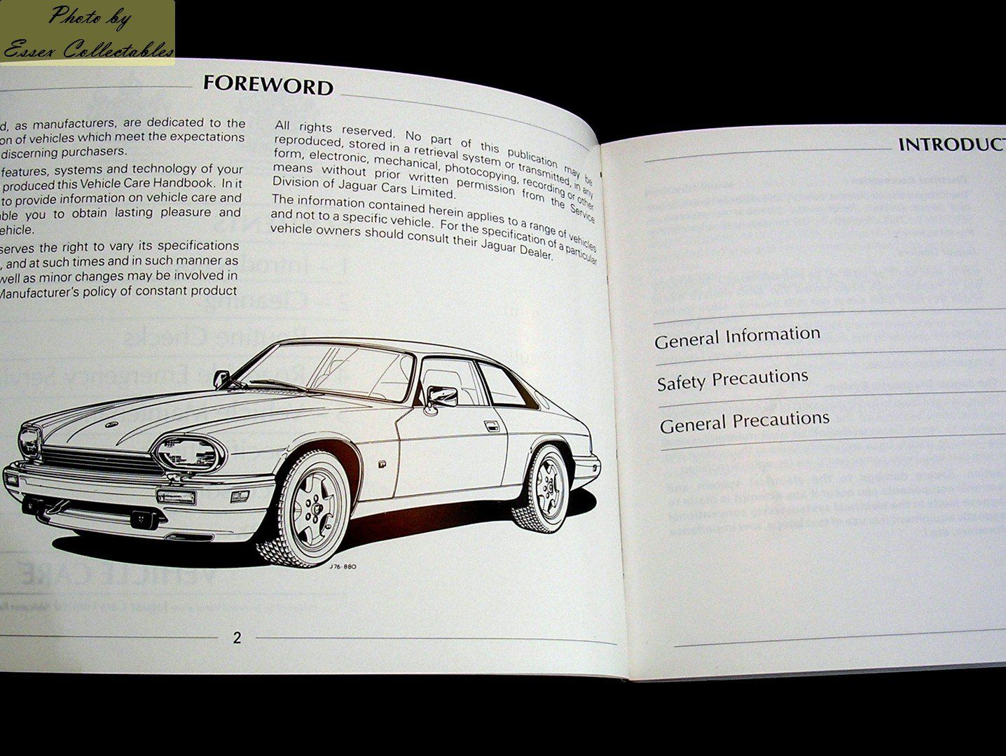 Jaguar xjs xj s owners handbookmanual and pack ephemera printed jaguar xjs xj s owners handbookmanual and pack sciox Gallery