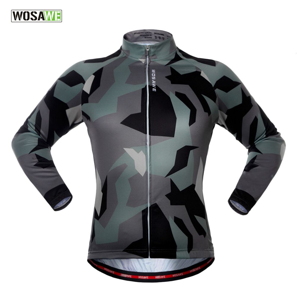Wosawe Spring Autumn Unisex Long Sleeve Cycling Jersey Quick Dry Windproof Cycling Top Jersey For Men And Women Mangas Largas Licra Ciclismo