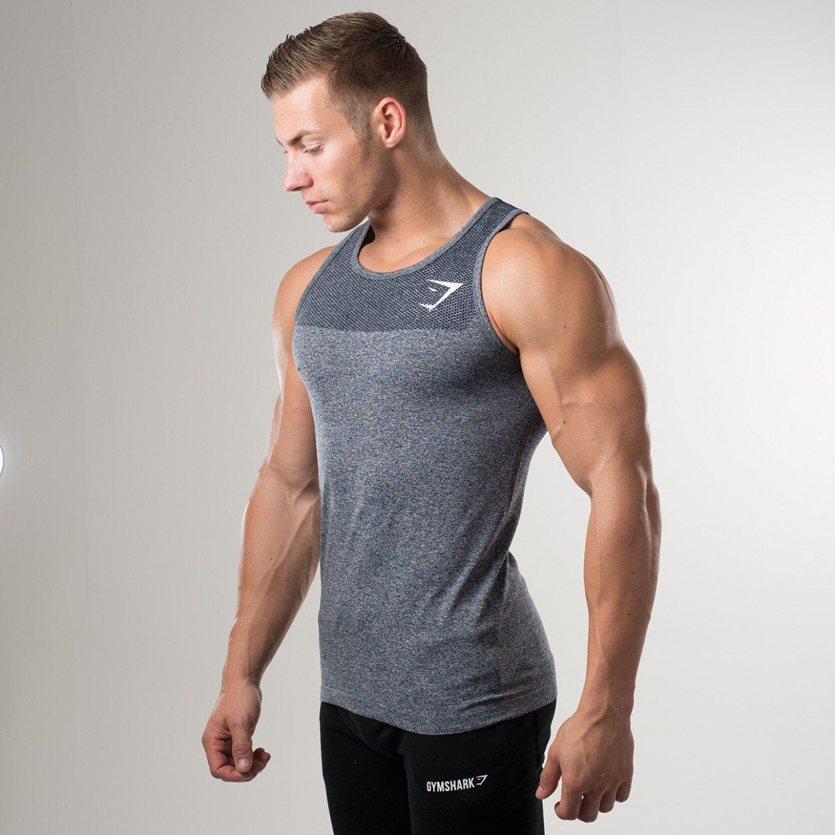 fdcc53758e88d Gymshark Phantom Seamless Tank - Charcoal - New Releases - Featured - Mens