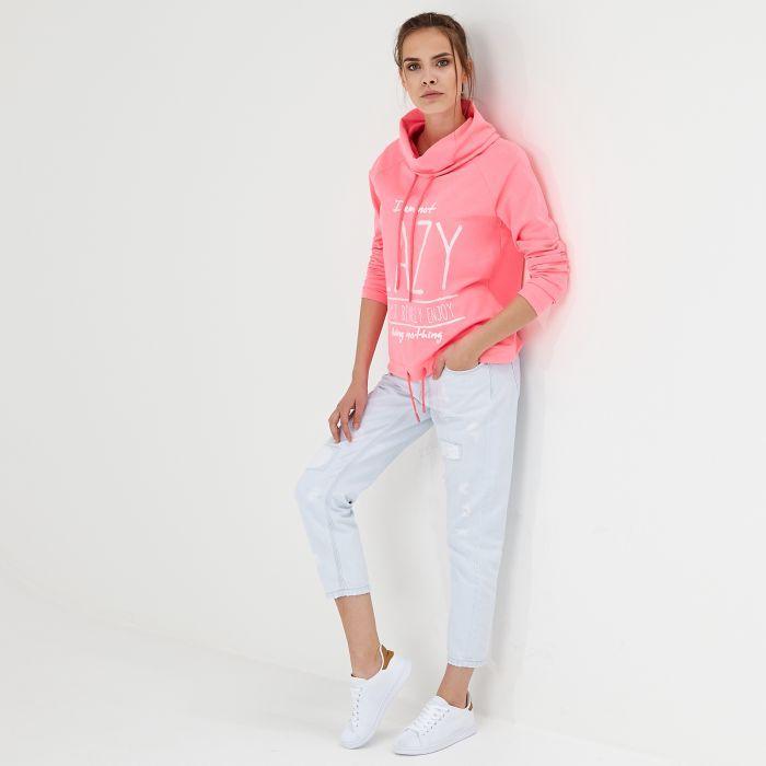 Neonowa Bluza Lazy Cropp Fashion White Jeans Tops