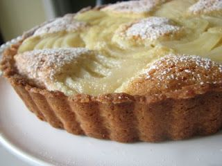 french pear tart...going to make For Easter 04/2012 http://doriegreenspan.com/2009/01/tuesdays-with-dorie-french-pear-tart.html#more