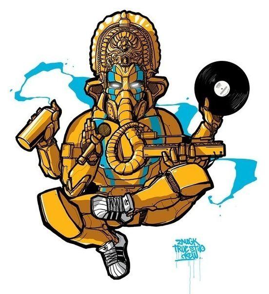 Ganesh Graffiti Art Hip Hop Illustration Hip Hop Art