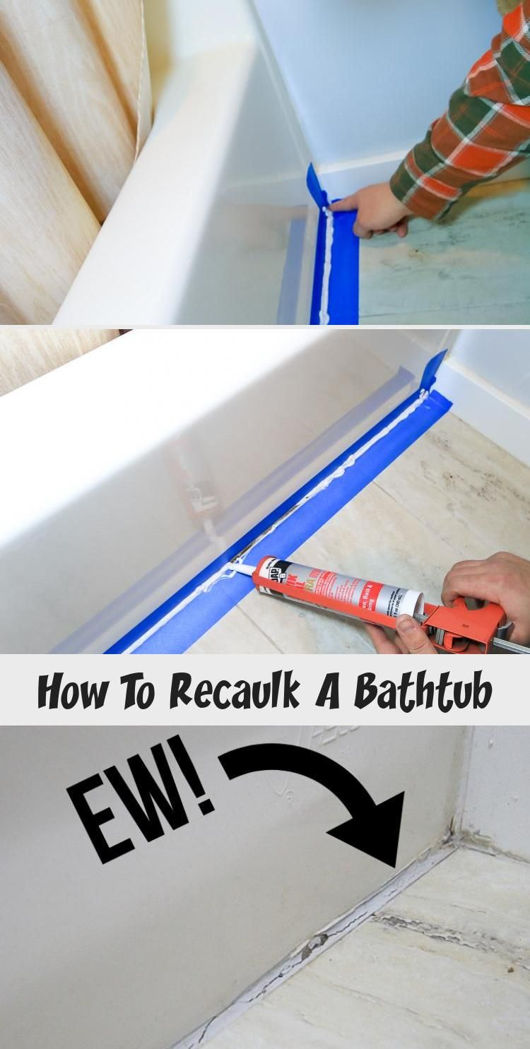 How To Recaulk A Bathtub | Diy bathtub, Bathtub, Diy home ...