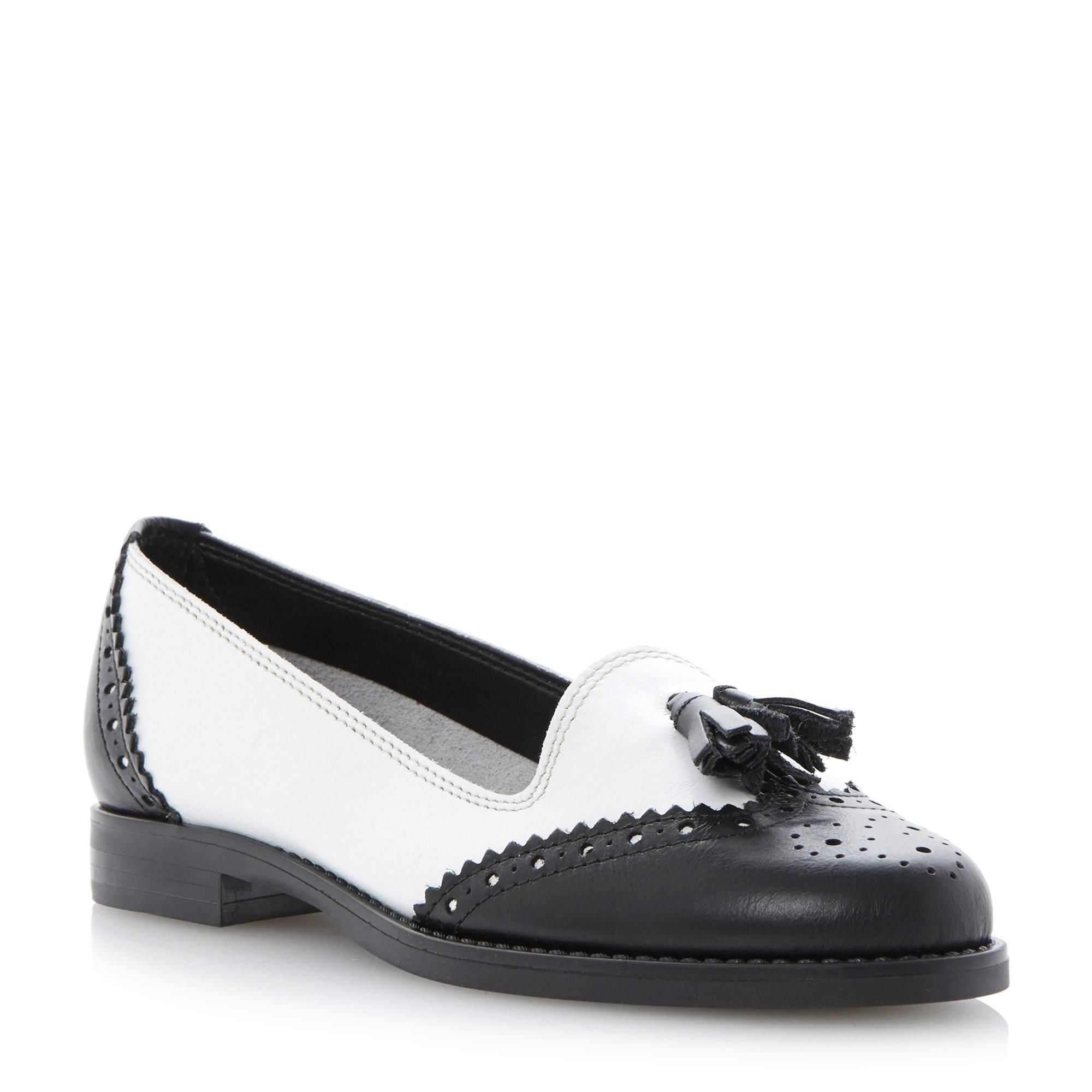 Black Patent Faux Patent Leather Shoe w White Rubber Outsole by Liliana