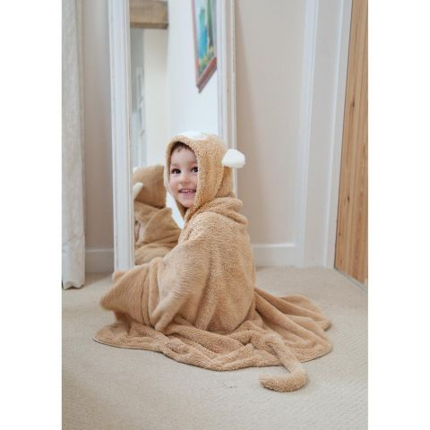 This super soft and fluffy hooded towel is perfect for the little monkey in your life.