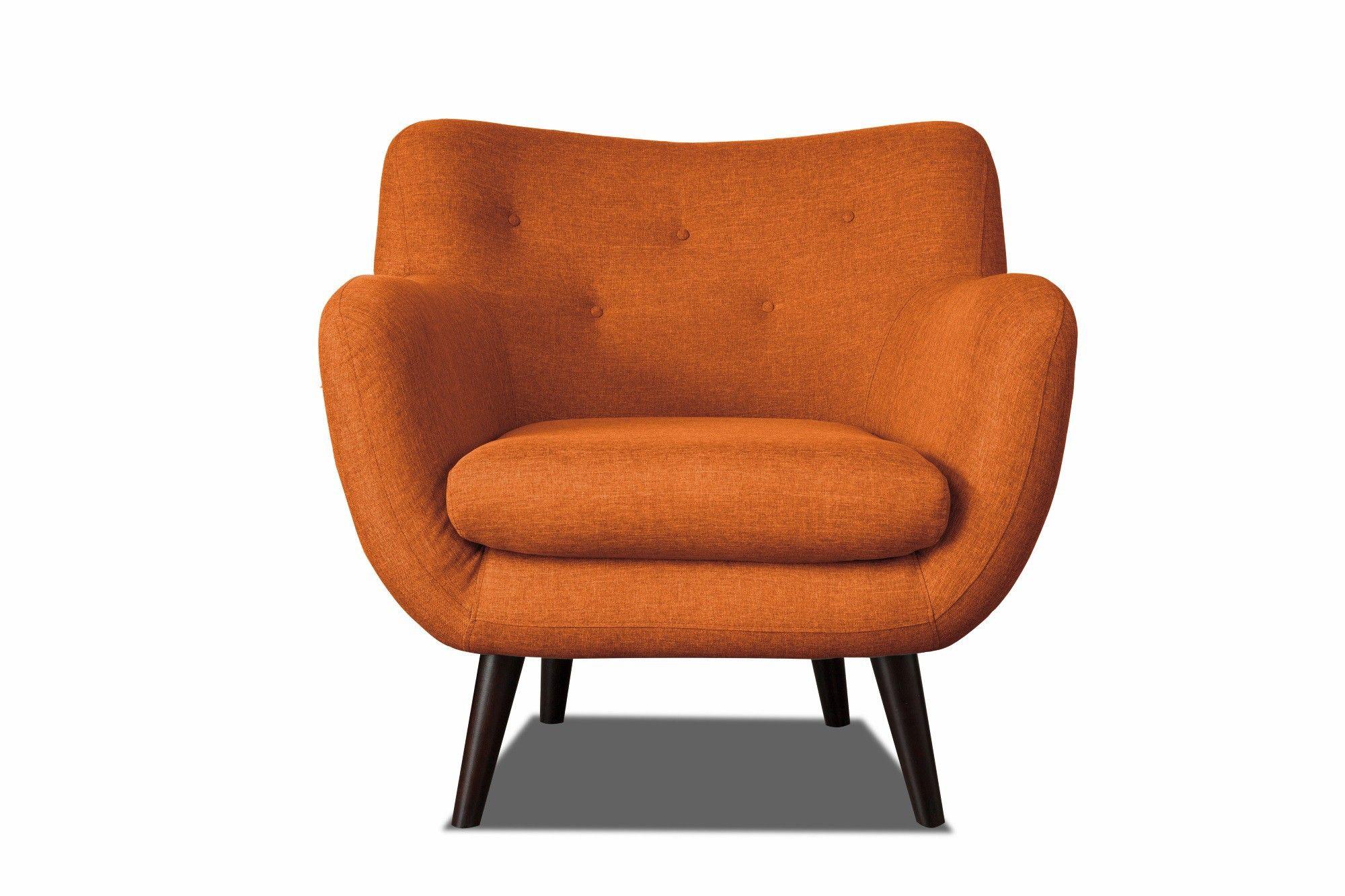 En Tissu Orange Design Axelle Fauteuil lFJuTc13K