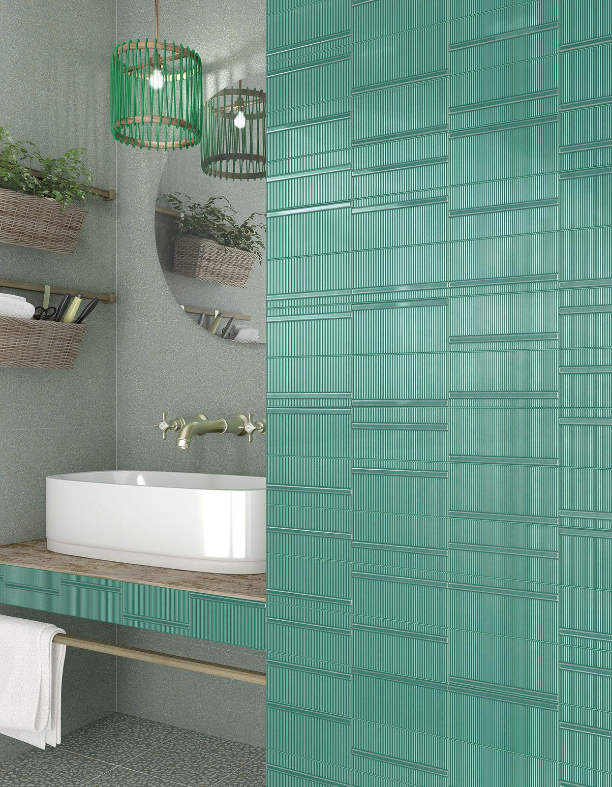 very cool mint green wall tiles featuring a cool 3d design perfect rh pinterest es