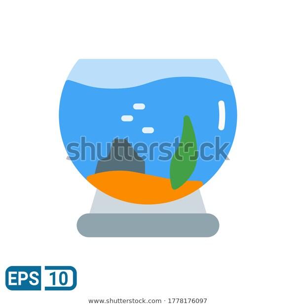 Flat Style Icon Aquarium Vector Illustration Stock Vector Royalty Free 1778176097 Vector Illustration Style Icon Fashion Flats