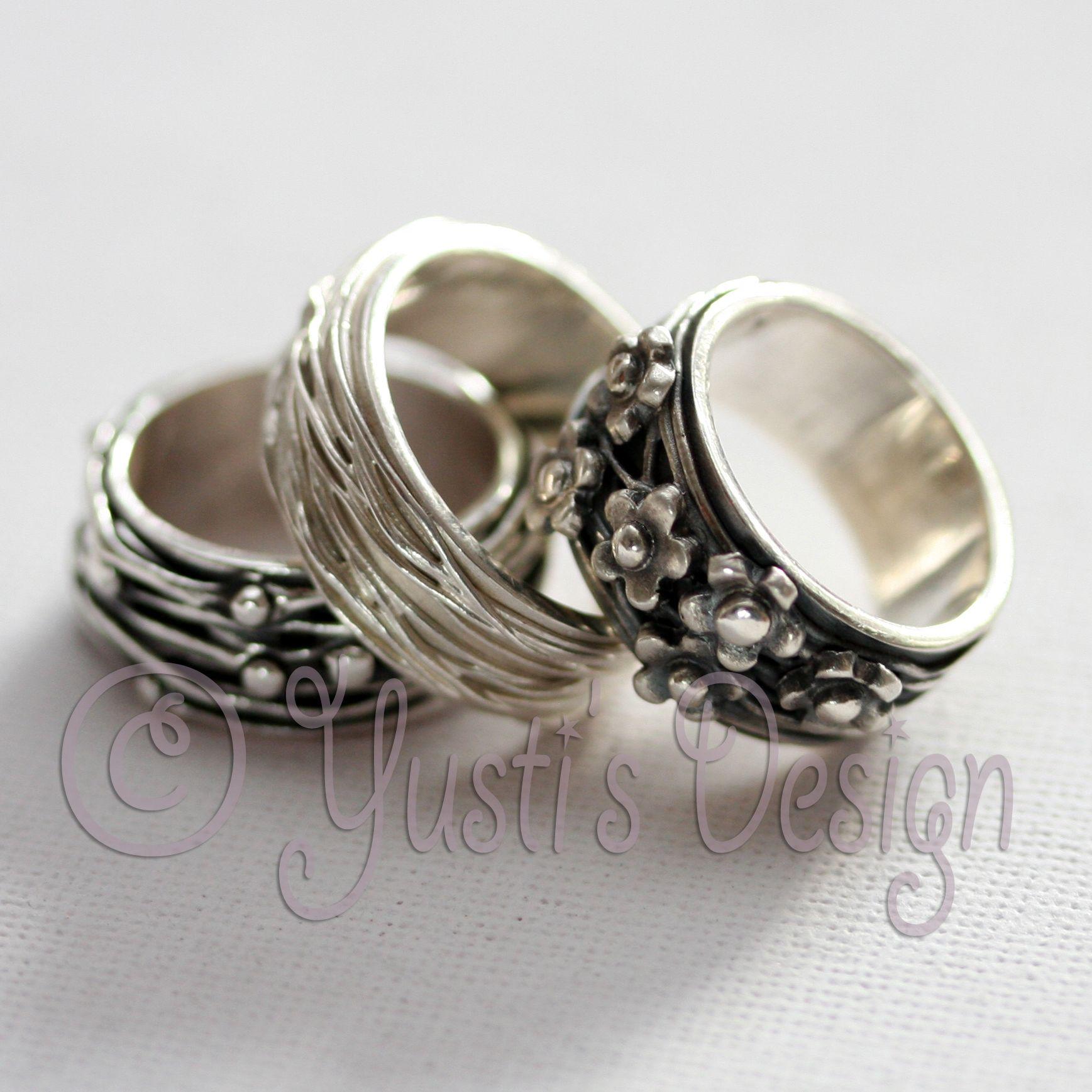 Zilverklei Ringen Silver Clay Rings Made by me