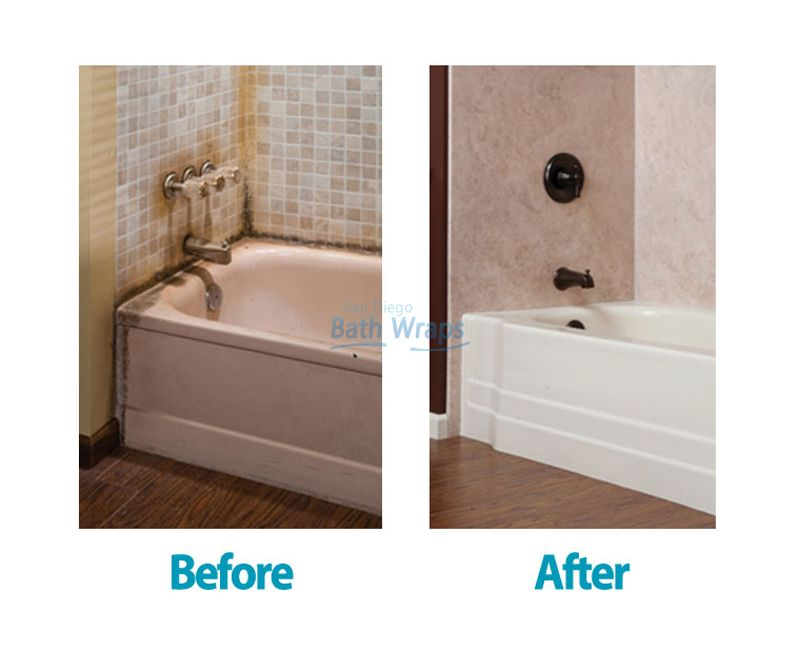 Get New Accessories For Your Bathroom With San Diego Bath Wraps Mesmerizing San Diego Bathroom Remodel Review