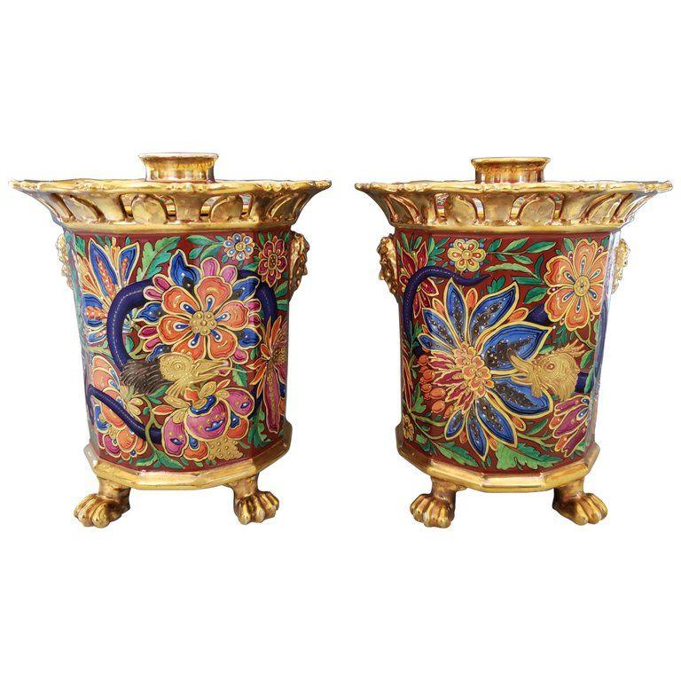 Paris Porcelain Incense Holders Attributed To Jacob Petit