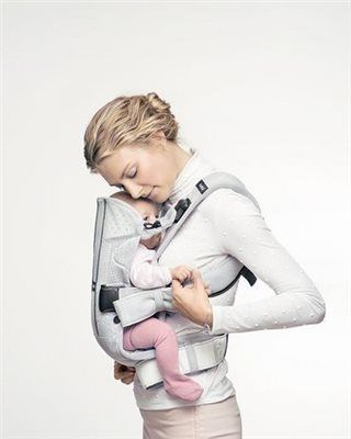 78c15e89e3d BABYBJÖRN One Air Silver Mesh Baby Carrier