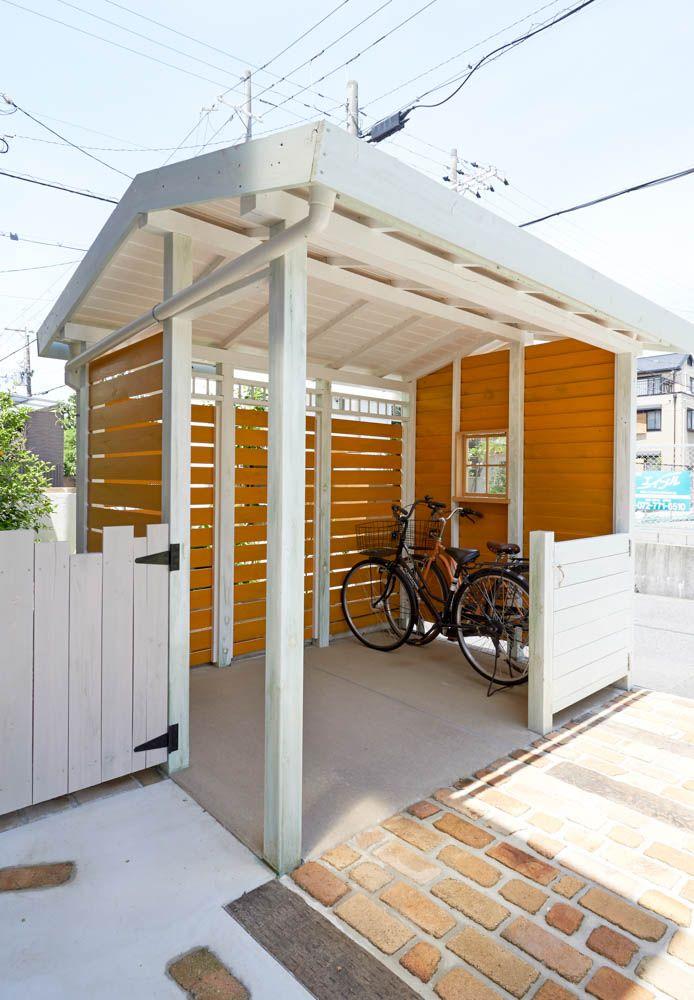 フィトライフのリフォーム 木製自転車置き場 自転車小屋 自宅で