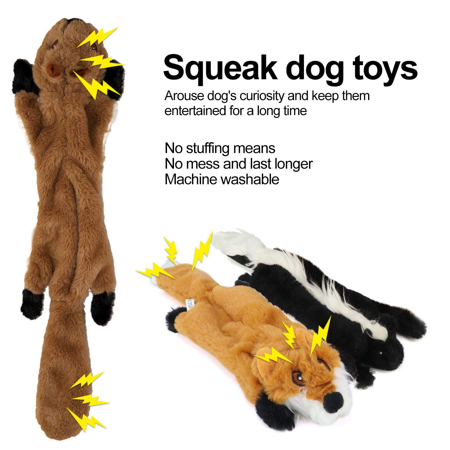 No Stuffing Dog Toys With Squeakers Dog Squeaky Toys With Stuffing