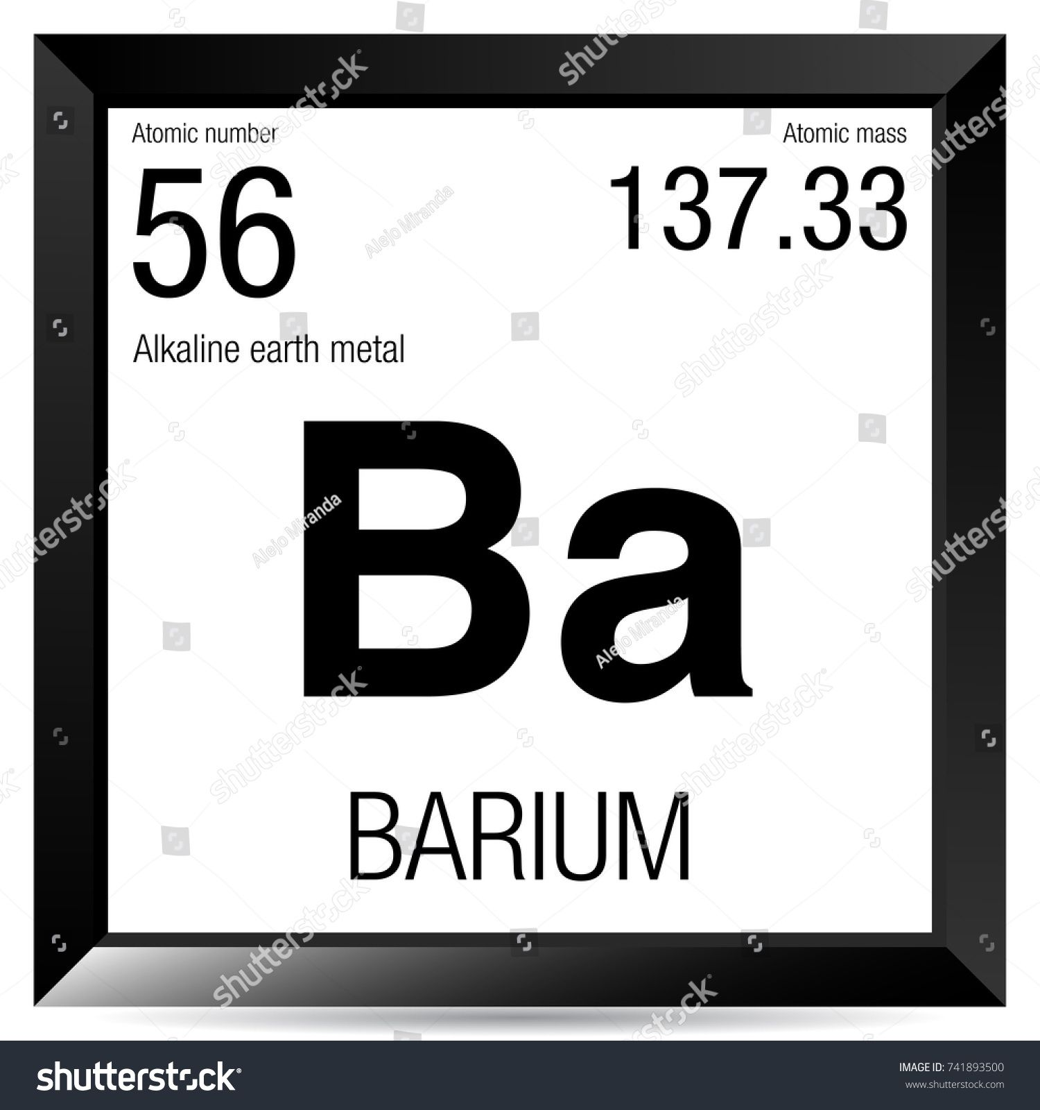 Ba Barium Periodic Table Elements