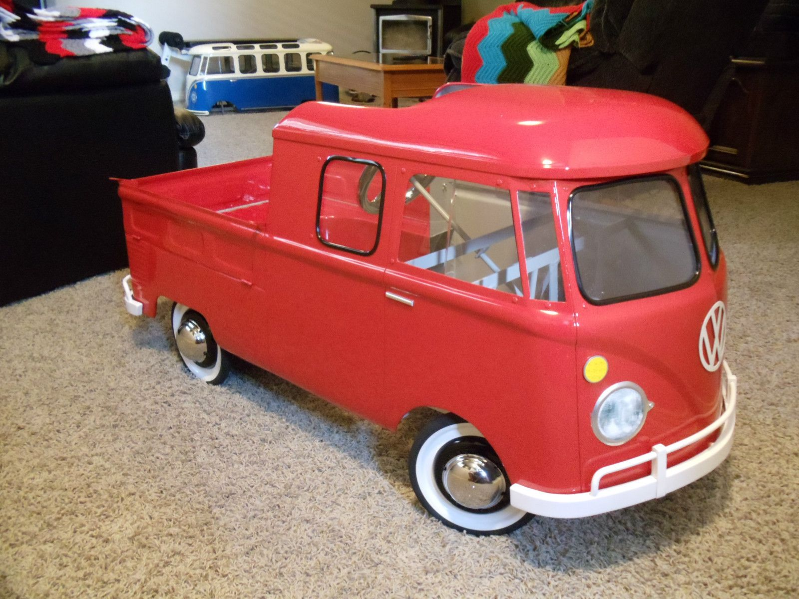 vw volkswagen type 2 double cab pedal car samba bus crazy carsbeetle bug kids